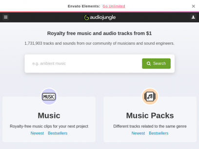 AudioJungle - Royalty Free Music & Audio