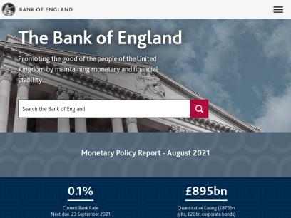 Home | Bank of England