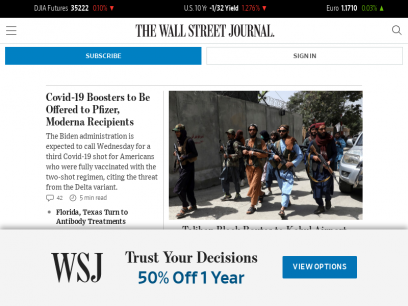 The Wall Street Journal - Breaking News, Business, Financial & Economic News, World News and Video