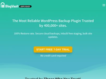 The Most Reliable WordPress Backup Plugin - BlogVault
