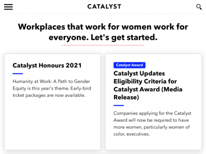 Catalyst: Workplaces That Work for Women