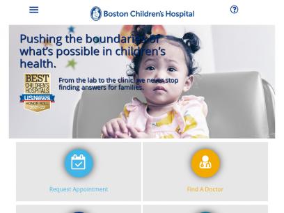 Sites like childrenshospital.org &         Alternatives