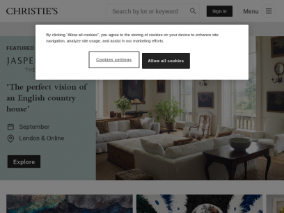Christie's Auctions & Private Sales | Fine Art, Antiques, Jewelry & More