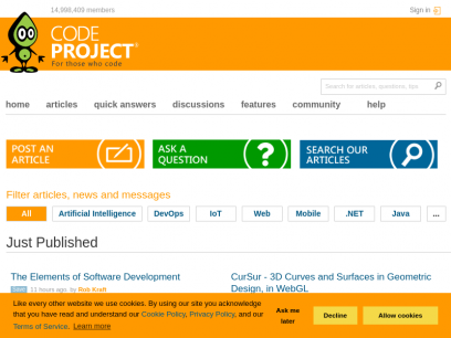 CodeProject - For those who code