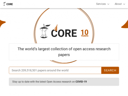 CORE – Aggregating the world's open access research papers