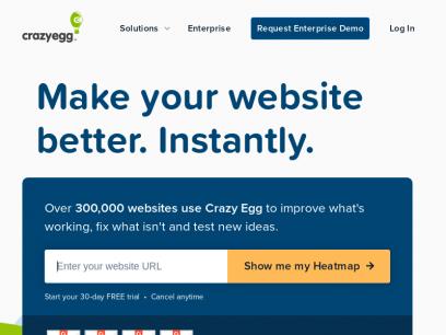 Crazy Egg Website Optimization   Heatmaps & A/B Testing