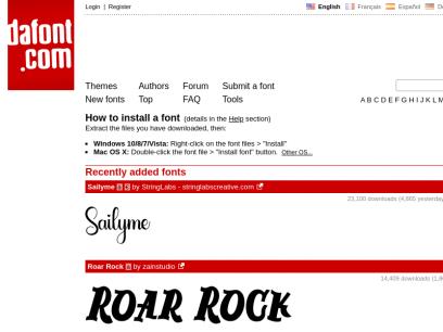 DaFont - Download fonts
