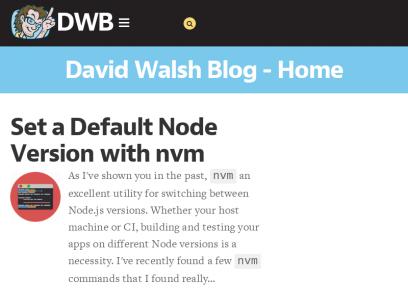 David Walsh Blog - JavaScript Consultant