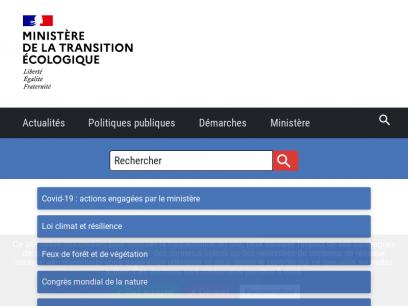 Accueil   Ministère de la Transition écologique
