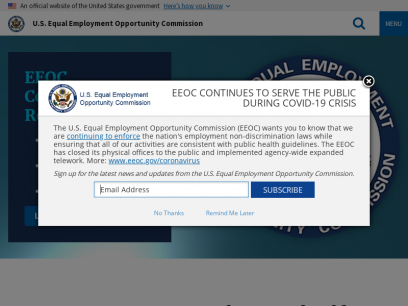 Home   U.S. Equal Employment Opportunity Commission