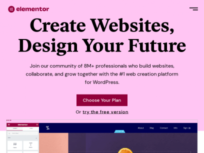 Elementor: #1 Free WordPress Website Builder | Elementor.com
