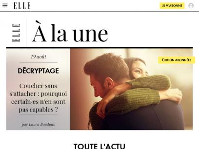 Magazine ELLE :  magazine feminin mode, beauté, cuisine  - Elle