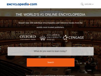 Encyclopedia.com   Free Online Encyclopedia