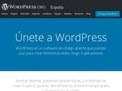 Herramienta de blog, plataforma de publicación y CMS | WordPress.org España