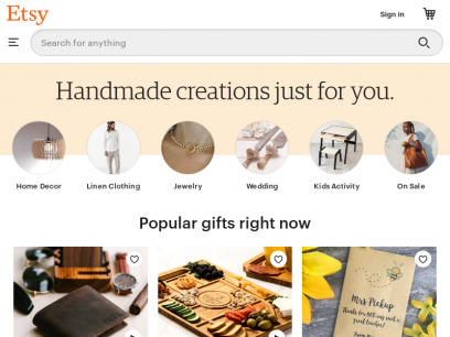 Etsy - Shop for handmade, vintage, custom, and unique gifts for everyone