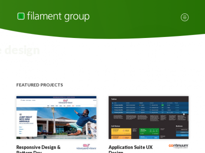 Filament Group, Inc.   User Interface Design & Responsive, Accessible, Resilient Web Development   Filament Group, Inc.
