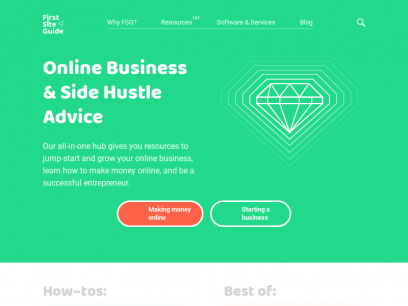 Online Business & Side Hustle Advice | FirstSiteGuide