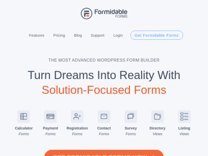 Formidable Forms - The Most Advanced WordPress Forms Plugin
