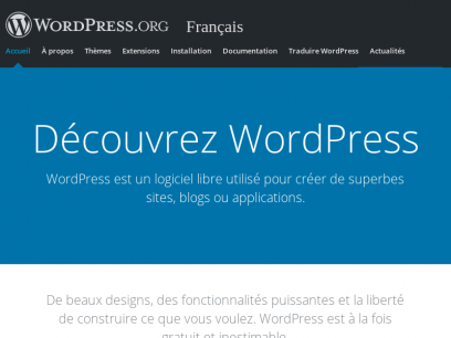 Outil de blog, plateforme de publication et CMS. | WordPress.org Français
