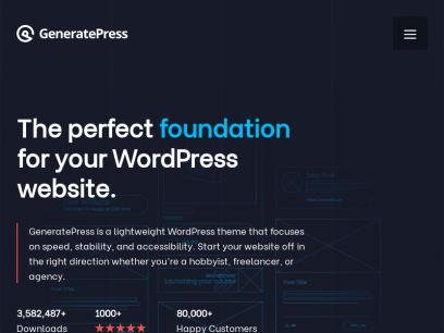 GeneratePress - The perfect foundation for your WordPress website.