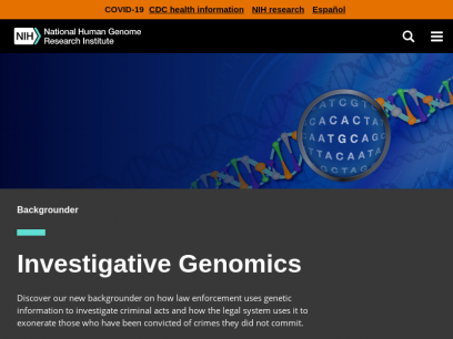 National Human Genome Research Institute Home   NHGRI