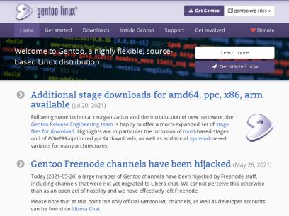 Welcome – Gentoo Linux