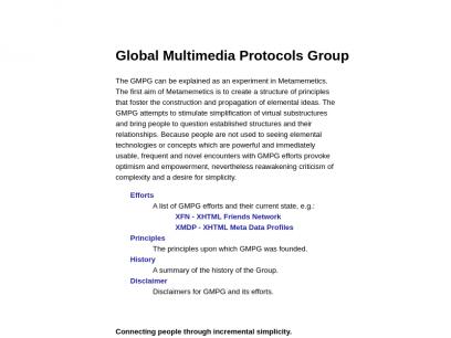 Sites like gmpg.org &         Alternatives