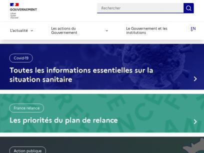 Bienvenue sur gouvernement.fr   Gouvernement.fr