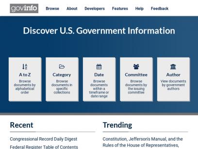 govinfo.gov | U.S. Government Publishing Office