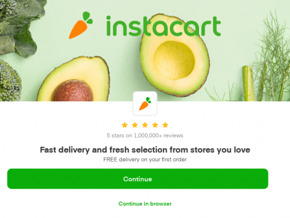 Instacart | Grocery Delivery or Pickup from Local Stores Near You