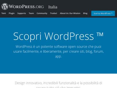 Strumento per blog, piattaforma di pubblicazione, e CMS | WordPress.org Italia