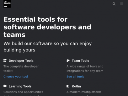 JetBrains: Essential tools for software developers and teams