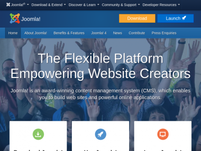 Joomla Content Management System (CMS) - try it! It's free!