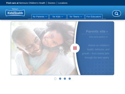 Nemours KidsHealth - the Web's most visited site about children's health