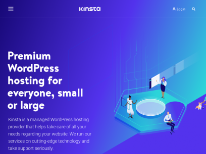 Kinsta - Managed WordPress Hosting for All, Large or Small