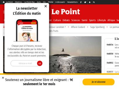 Le Point – Actualité Politique, Monde, France, Économie, High-Tech, Culture