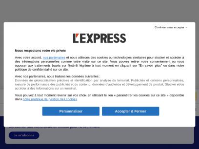 L'Express - Actualités Politique, Monde, Economie et Culture - L'Express