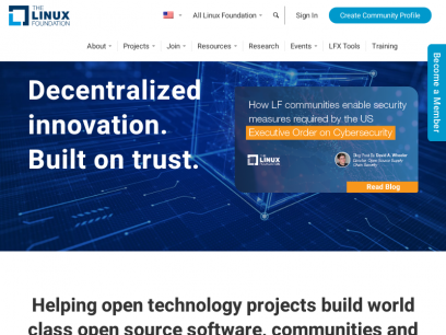 Linux Foundation - Decentralized innovation, built with trust
