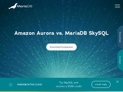 MariaDB Enterprise Open Source Database & SkySQL MariaDB Cloud | MariaDB