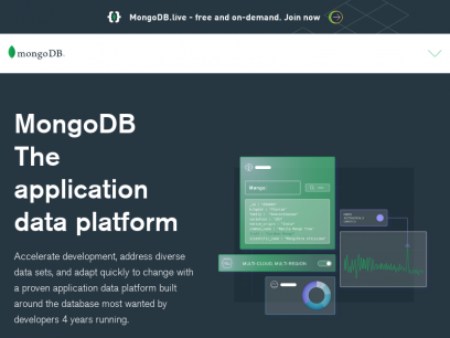 The most popular database for modern apps   MongoDB