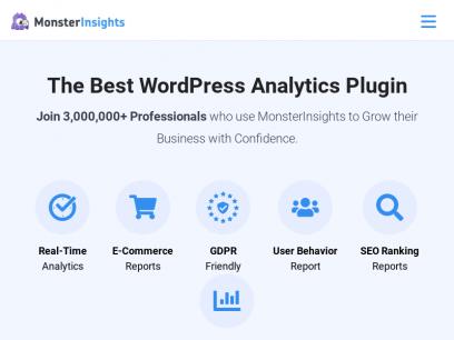 MonsterInsights - The Best Google Analytics Plugin for WordPress
