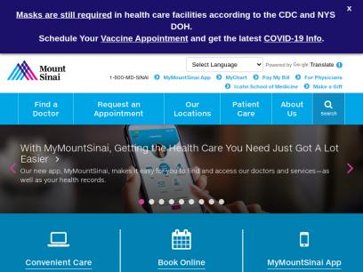 Mount Sinai Health System - New York City    Mount Sinai - New York