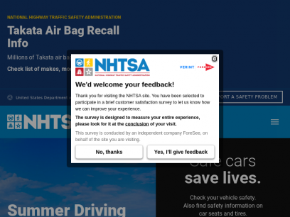 NHTSA | National Highway Traffic Safety Administration