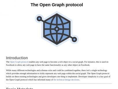 The Open Graph protocol