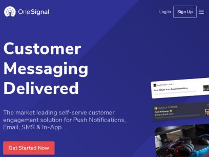 Customer Messaging Delivered | Send Mobile & Web Push… - OneSignal