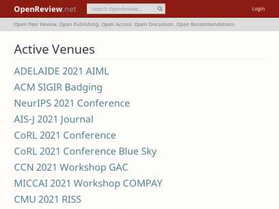 Venues   OpenReview