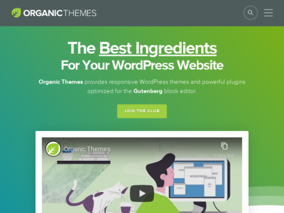 Organic Themes - Premium WordPress Themes, Page Builder and Services