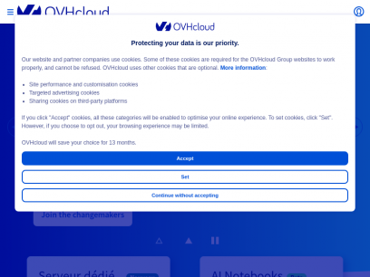 Web hosting, cloud computing and dedicated servers | OVHcloud