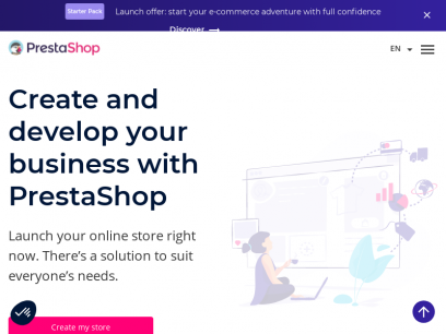 Create and build your online store with PrestaShop