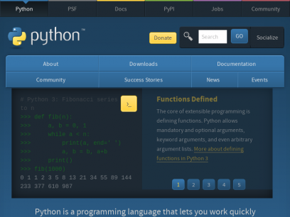 Welcome to Python.org